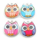 New Wholesale Owl Animal Colorful Sticker Charms Alloy Pendants Necklace Finding