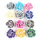 Wholesale Lace Flower Charms FIMO Polymer Clay Flatback Spacer Loose Beads 20mm
