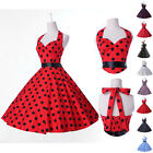 CHEAP Vintage Rockabilly Retro Swing 50's 60's pinup Housewife Prom Party Dress
