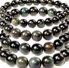 Natural AAA rainbow eye obsidian round beads strand 6mm 8mm 10mm to 20mm 15.5""