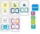 MAM New Design Air 6+ months soother 2 pack  (Boy/Girl Colour Available)