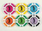 Magnetic Poker Chip With Lady Golfer Ball Marker
