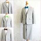 Boy Silver grey white brown orange green yellow tie party formal suit all sizes