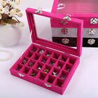 Jewelry Necklace Ring Display Organizer Box Tray Holder Earring Storage Case