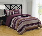 Claudia Purple 7PC Comforter Set, Includes Comforter, Skirt, Shams and Pillows