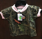 NWT Infant Conceal Green Camo & Pink Short Sleeve Tee NB to 6-7