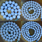 """High Quality Natural Blue Chalcedony Round Beads Strand 15.5"""" 4,6,8,10,12,14mm"""