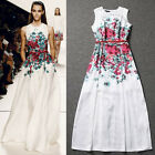 Hot Women Bandage Sleeveless Floral Long Dress Evening Party Cocktail Gown dress