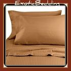 1500 Thread Count 4-Piece Egyptian Cotton Sheet Set - Brown Stripe