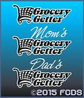 Grocery Getter Mom's Dad's Coupon Shopper Decal Sticker for Cars Trucks Minivans