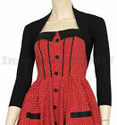 RoCkaBiLLy Black Short Sleeve Cropped Cardi Shrug ~ Retro 50s Cardigan Bolero