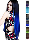Women Color Gradually Varied One Piece Long Hair Extensions Straight Full Head
