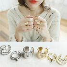 3Pcs/Set Gold Silver Plated Shiny Fashion Band Midi Finger Knuckle Stack Rings