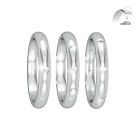 New 950 Hallmarked Platinum Wedding Ring D Shape 2mm 2.5mm 3mm Diamond set 1,3,8