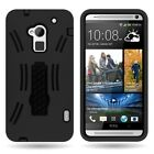 Protective Hybrid Armor Tough Kickstand Phone Cover Case for HTC One Max