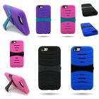 "For Apple iPhone 6 (4.7"") - Dual Layer Hybrid Kickstand Rugged Hard Soft Case"