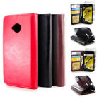 For Motorola Moto E 2nd Generation 2015 Leather Folio Case Red Flip Wallet Cover