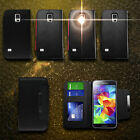 For Samsung Galaxy S5 - Wallet Flip Magnetic Leather Feel Phone Case Cover