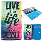 Universal Leather Wallet Card Holder Case Cover For Samsung S4 S5 S6 J1 A3 Note