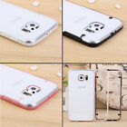 Ultra Thin Transparent Crystal Clear Hard Case Cover For Samsung Galaxy S6 +Flim