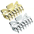 9cm Square Shape Hair Claw Clip Clamp - Silver or Gold