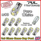 T10 501 W5W CAR SIDE LIGHT BULBS CANBUS ERROR FREE 6 SMD LED PURE HID WHITE