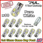 T10 CAR BULBS LED ERROR FREE CANBUS 6 SMD PURE WHITE SIDE LIGHT BULB W5W 501