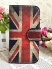 HOT Retro Union Jack UK Flag Flip Pouch Leather Case cover for MOTOROLA LG phone
