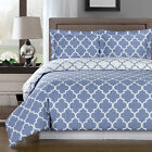 Meridian Periwinkle/White 100% Egyptian Cotton Duvet Cover Set