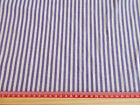 Lavender / white stripe  / sold by the metre / 144cm wide/  Polycotton material