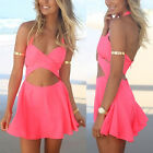 Sexy Women Cocktail Party Evening Bandage Mini Dress Summer Casual Beach Skirts