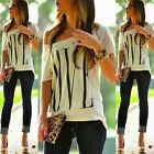 Sexy Women Short Sleeve Loose White T Shirt Summer Casual tshirt Top Blouse 2015