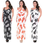 WOMENS PLUS SIZE FLORAL SUMMER CASUAL BEACH SUNDRESS LONG MAXI SWEETHEART 1X-3X