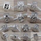 Silver Plated Stopper Clip Spacer Fit European Charm Bracelet DIY Beads Findings
