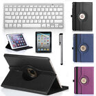 Folio Leather 360° Rotating Case Cover + Bluetooth Keyboard for iPad Air 2(2014)