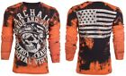 Archaic AFFLICTION Mens THERMAL T-Shirt RACER American Customs Biker M-3XL $58 a