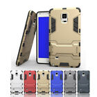 Luxury Hybrid Armor Cover Case Plastic/Rubber+Stand for Samsung Galaxy Note 4