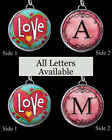"Letters Initials Heart Love Necklace 1"" Silver Pewter Handcrafted Charm Pendant"