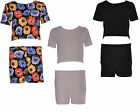 Women Crop Top Co Ord Dress Ladies Mini Short Hotpants Two Piece Suit Set 8-14