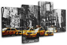 Times Square Grunge New York City MULTI CANVAS WALL ART Picture Print VA