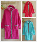 Hoodie Womens Mens Thermal Coral Fleece Dressing Gowns Super soft Bath Robe