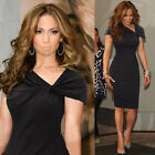 PLUS SIZE Womens Wear To Work Casual Party Bodycon Cocktail Sheath Pencil Dress