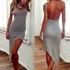 Sexy Women Hot Sleeveless Bandage Bodycon Evening Party Cocktail Maxi Dress