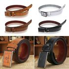 Men Casual Waistband Luxury Leather Automatic Buckle Belt Waist Strap Wide Belts