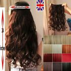 Uk Post Clip In 3/4 Full head Hair Extensions Brown Blonde real natural Piece