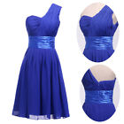 new One Shoulder Formal Evening party Wedding Bridesmaid Short prom Dress 6 - 20