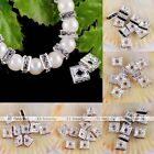 10pcs 6mm Crystal Studded Square Loose Spacer Bead Charms For Jewelry Making DIY
