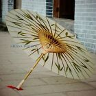 Chinese Handmade Bamboo Oil Paper Umbrella Parasol Brolly Vintage Craft Cosplay