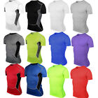 Men Compression Base Layer Skin Running Cycling T-shirt Shirts Tee Tops Gear New