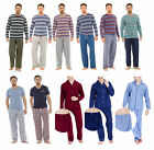 Mens Long Sleeve Top Pyjamas Nightwear Set Trousers Winter Lounge Wear